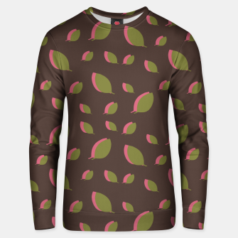 Autumn leaves green brown Unisex sweater miniature