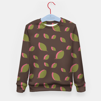 Autumn leaves green brown Kid's sweater miniature