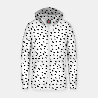 Cheetah Animal Print Glam #1 #dots #pattern #decor #art  Reißverschluss kapuzenpullover thumbnail image