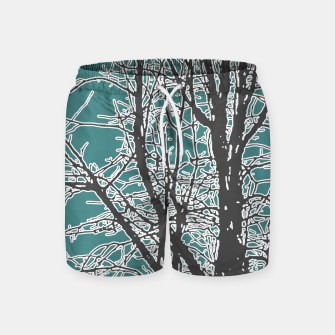 Thumbnail image of Nature Vector Style Illustration Swim Shorts, Live Heroes