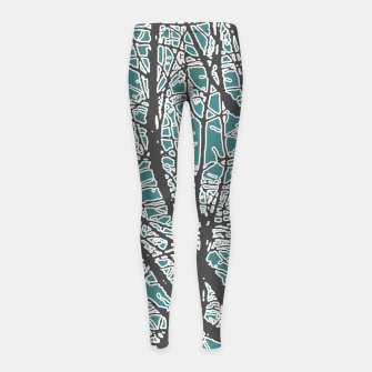 Thumbnail image of Nature Vector Style Illustration Girl's leggings, Live Heroes