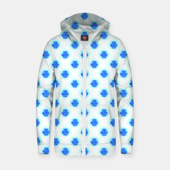 Metatrons Matrix Cool Blue Zip up hoodie thumbnail image