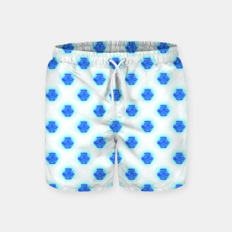 Metatrons Matrix Cool Blue Swim Shorts Bild der Miniatur