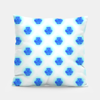 Metatrons Matrix Cool Blue Pillow miniature