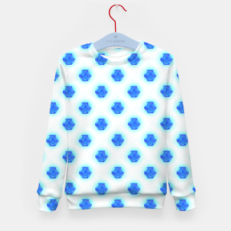 Metatrons Matrix Cool Blue Kid's sweater Bild der Miniatur