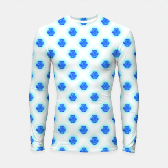 Thumbnail image of Metatrons Matrix Cool Blue Longsleeve rashguard , Live Heroes