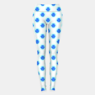 Metatrons Matrix Cool Blue Leggings miniature