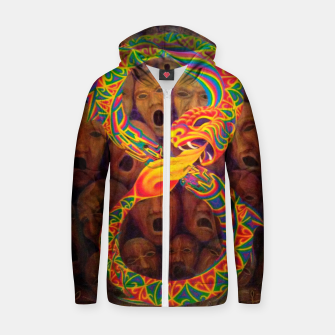 Thumbnail image of Ourorobos Zip up hoodie, Live Heroes