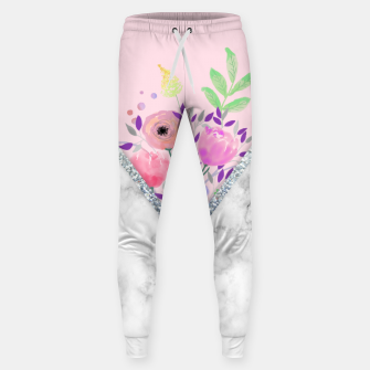 Thumbnail image of MINIMAL PINK FLORAL MARBLE Pantalones de chándal , Live Heroes