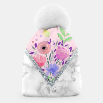 Thumbnail image of MINIMAL PINK FLORAL MARBLE Gorro, Live Heroes