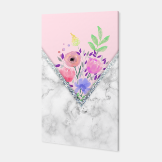 Thumbnail image of MINIMAL PINK FLORAL MARBLE Canvas, Live Heroes