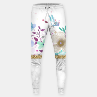Thumbnail image of MINIMAL GOLD FLORAL MARBLE Pantalones de chándal , Live Heroes