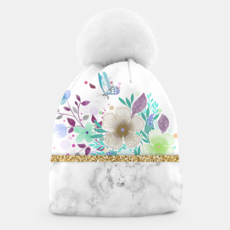 Thumbnail image of MINIMAL GOLD FLORAL MARBLE Gorro, Live Heroes