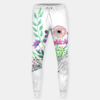 Thumbnail image of MINIMAL SILVER FLORAL MARBLE Pantalones de chándal , Live Heroes