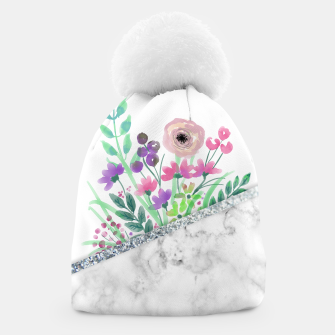 Thumbnail image of MINIMAL SILVER FLORAL MARBLE Gorro, Live Heroes