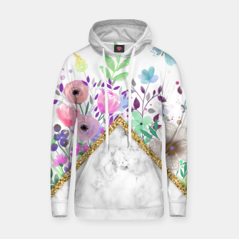 Thumbnail image of MINIMAL GOLD MARBLE BOUQUET Sudadera con capucha, Live Heroes