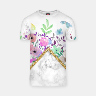 Thumbnail image of MINIMAL GOLD MARBLE BOUQUET Camiseta, Live Heroes