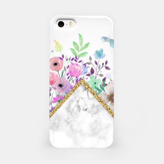 Thumbnail image of MINIMAL GOLD MARBLE BOUQUET Carcasa por Iphone, Live Heroes