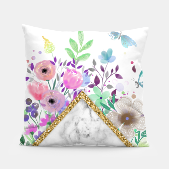 Thumbnail image of MINIMAL GOLD MARBLE BOUQUET Almohada, Live Heroes
