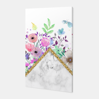 Thumbnail image of MINIMAL GOLD MARBLE BOUQUET Canvas, Live Heroes