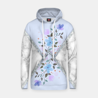 Thumbnail image of MINIMAL SILVER BLUE MARBLE BOUQUET Sudadera con capucha, Live Heroes