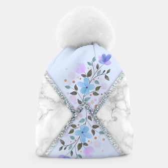 Thumbnail image of MINIMAL SILVER BLUE MARBLE BOUQUET Gorro, Live Heroes