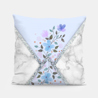 Thumbnail image of MINIMAL SILVER BLUE MARBLE BOUQUET Almohada, Live Heroes