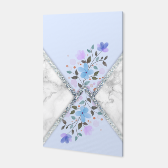 Thumbnail image of MINIMAL SILVER BLUE MARBLE BOUQUET Canvas, Live Heroes