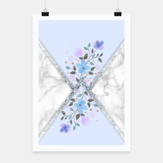 Thumbnail image of MINIMAL SILVER BLUE MARBLE BOUQUET Cartel, Live Heroes