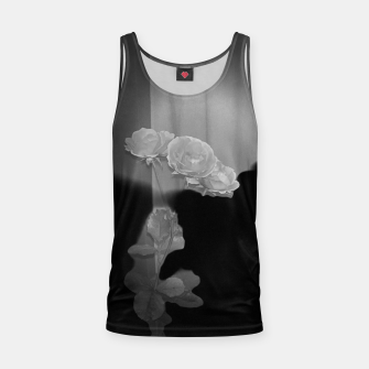 Thumbnail image of White roses in black Tank Top, Live Heroes