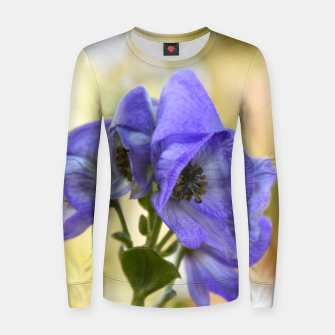Thumbnail image of autumn blue flower Bluza damska, Live Heroes