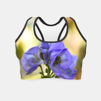 Thumbnail image of autumn blue flower Crop Top, Live Heroes