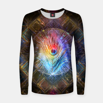 Thumbnail image of Rainbow peacock feather Women sweater, Live Heroes