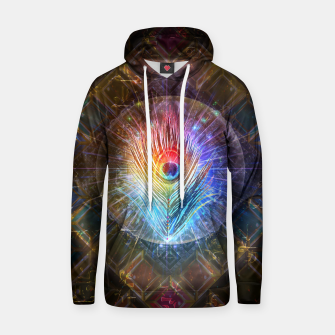 Thumbnail image of Rainbow peacock feather Hoodie, Live Heroes