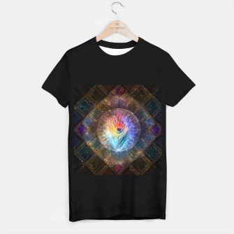 Thumbnail image of Rainbow peacock feather T-shirt regular, Live Heroes