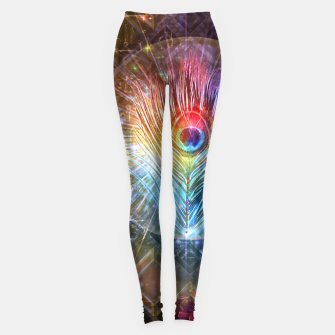 Thumbnail image of Rainbow peacock feather Leggings, Live Heroes