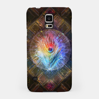 Thumbnail image of Rainbow peacock feather Samsung Case, Live Heroes