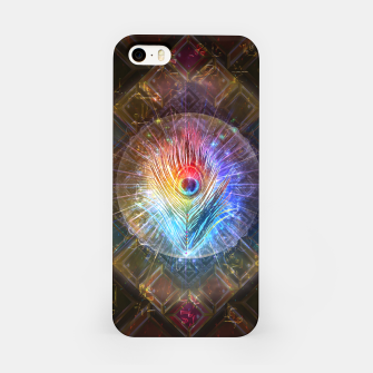 Thumbnail image of Rainbow peacock feather iPhone Case, Live Heroes