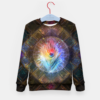 Thumbnail image of Rainbow peacock feather Kid's sweater, Live Heroes