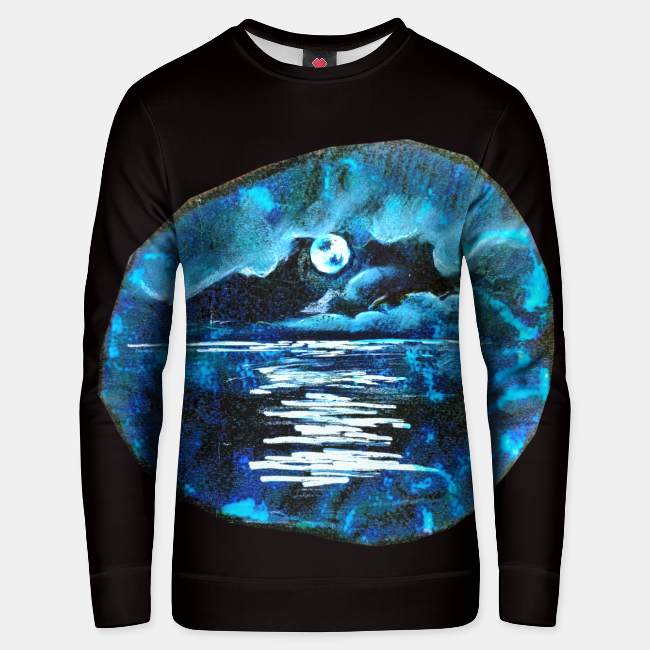 Image of Moon brain art for paratissima 19 Yulia A Korneva mri immage Unisex sweater - Live Heroes