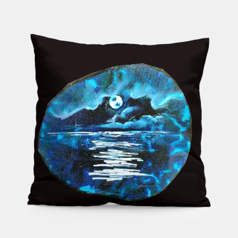 Thumbnail image of Moon brain art for paratissima 19 Yulia A Korneva mri immage Pillow, Live Heroes