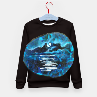 Thumbnail image of Moon brain art for paratissima 19 Yulia A Korneva mri immage Kid's sweater, Live Heroes