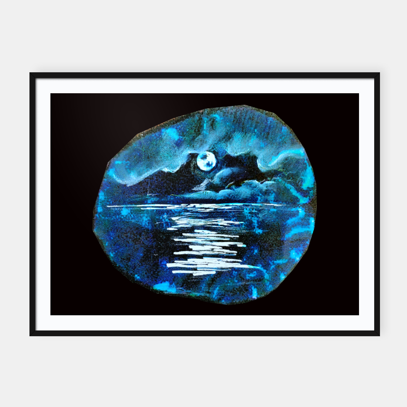 Image of Moon brain art for paratissima 19 Yulia A Korneva mri immage Framed poster - Live Heroes