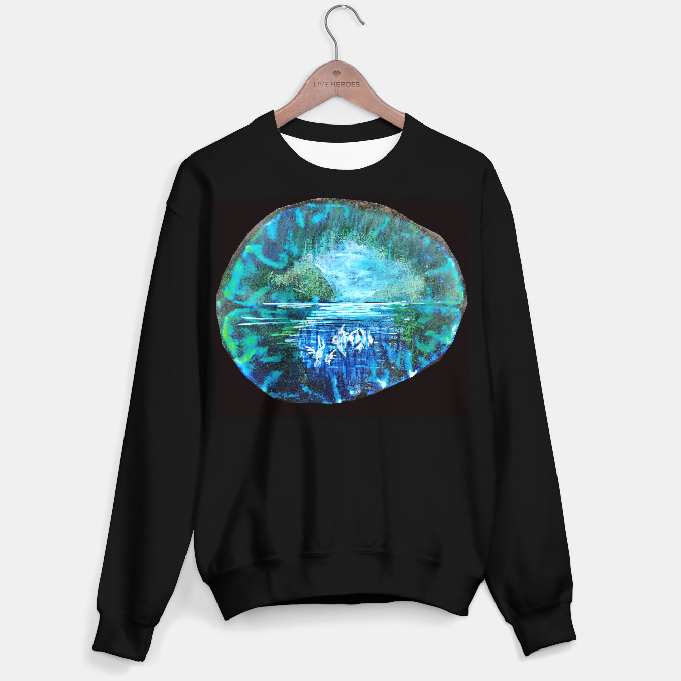 Image of lost and found world 2 brain art for paratissima 19 Yulia A Korneva mri immage Sweater regular - Live Heroes