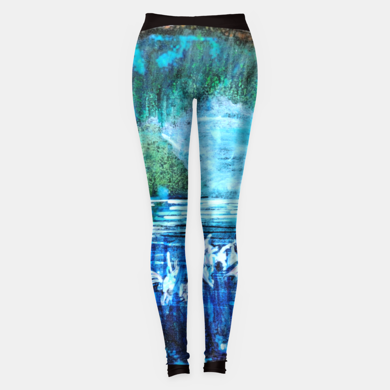 Image of lost and found world 2 brain art for paratissima 19 Yulia A Korneva mri immage Leggings - Live Heroes