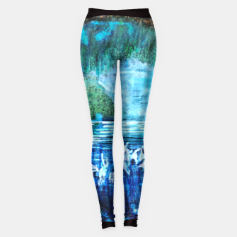 Thumbnail image of lost and found world 2 brain art for paratissima 19 Yulia A Korneva mri immage Leggings, Live Heroes