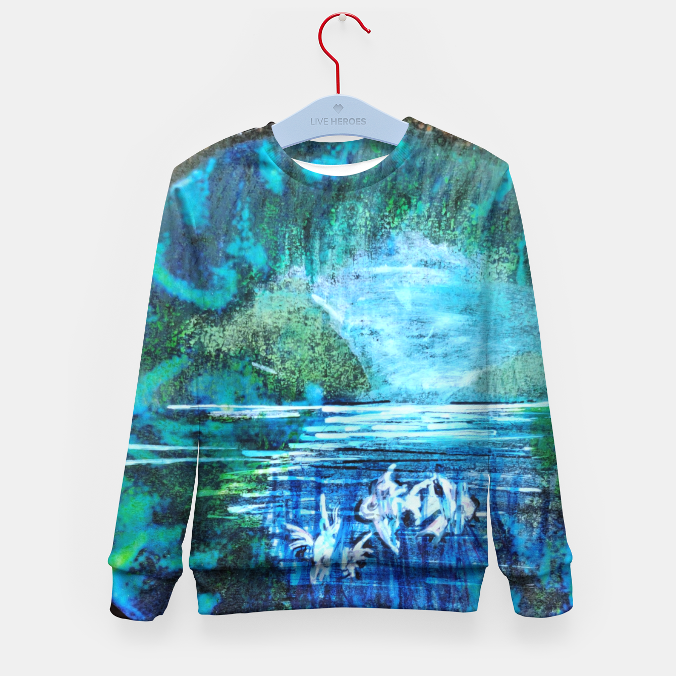 Image of lost and found world 2 brain art for paratissima 19 Yulia A Korneva mri immage Kid's sweater - Live Heroes