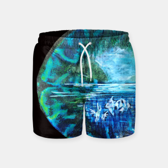 Thumbnail image of lost and found world brain art for paratissima 19 Yulia A Korneva mri immage Swim Shorts, Live Heroes