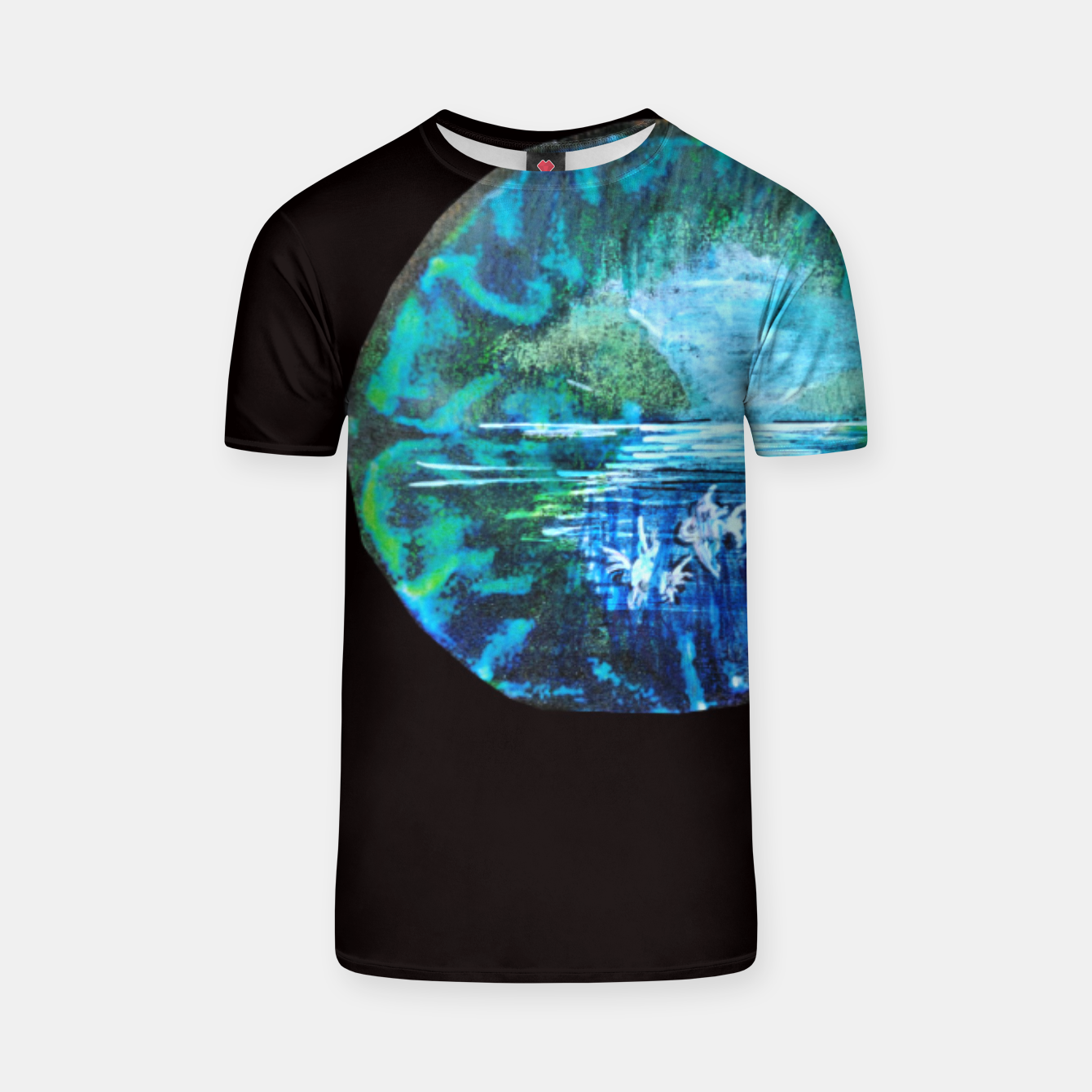 Image of lost and found world brain art for paratissima 19 Yulia A Korneva mri immage T-shirt - Live Heroes
