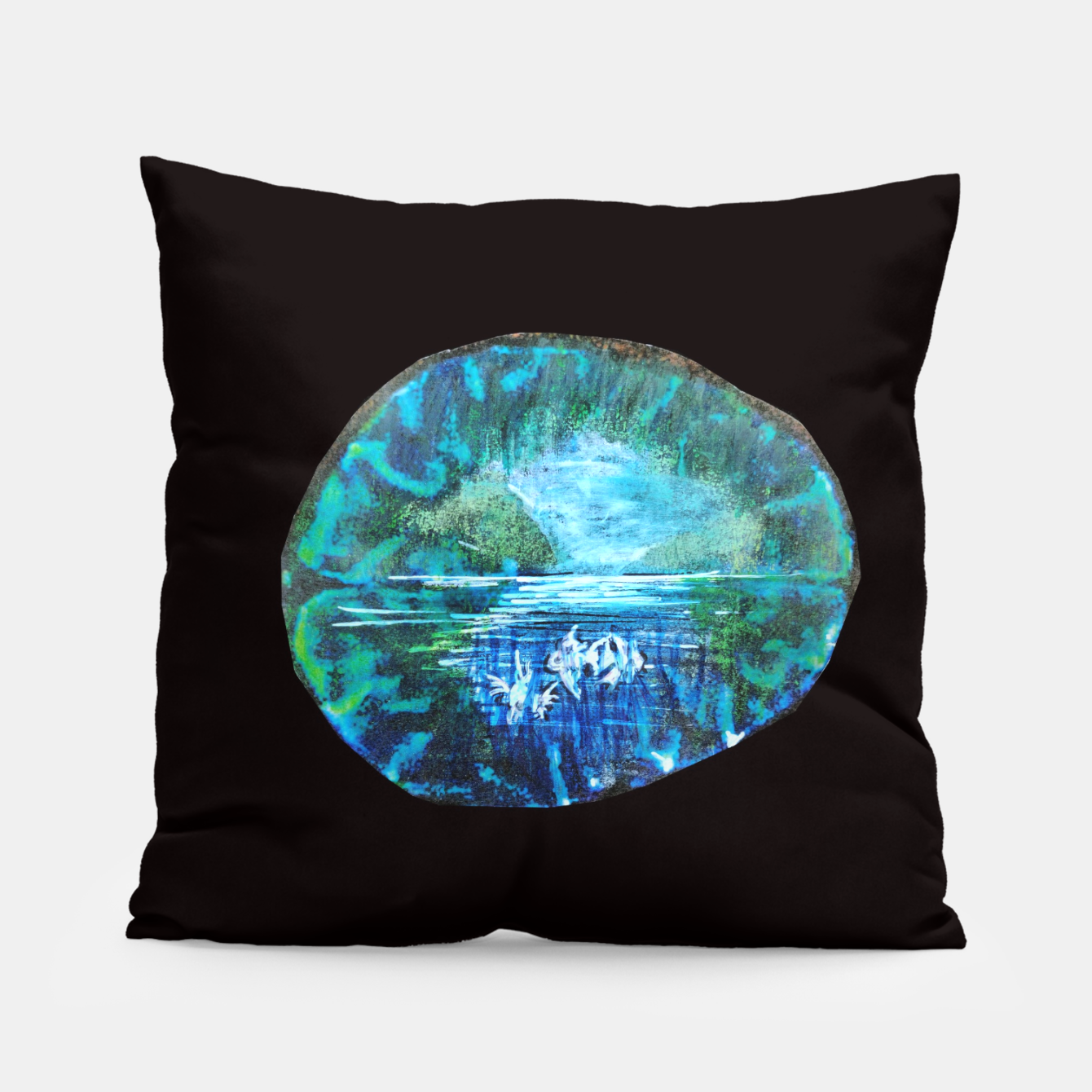 Image of lost and found world brain art for paratissima 19 Yulia A Korneva mri immage Pillow - Live Heroes